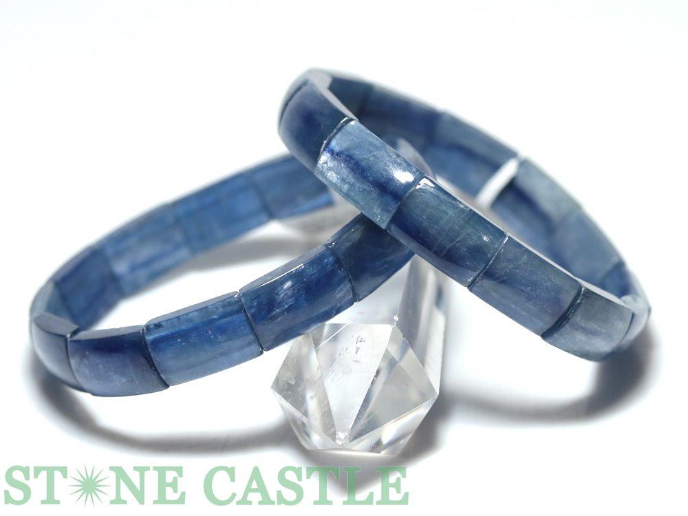 ☆高品質☆【ブレスレット】カイヤナイト (3A) (ブラジル産) バングル 約10x15mm