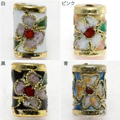 【モチーフビーズ】七宝焼 円柱型