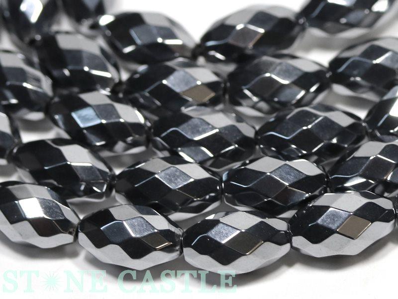 【カットビーズ】テラヘルツ鉱石 米型カット 約7x12mm