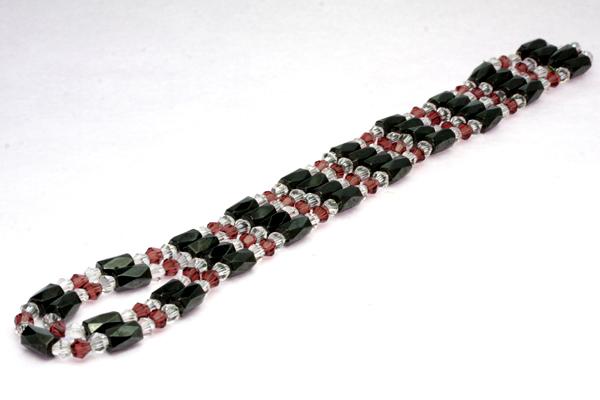 【ネックレス・ブレスレット】磁気ヘマタイトFreeネックレス&ブレスレット(パッケージ付)