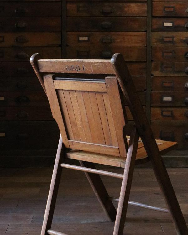 木製フォールディング チェア C