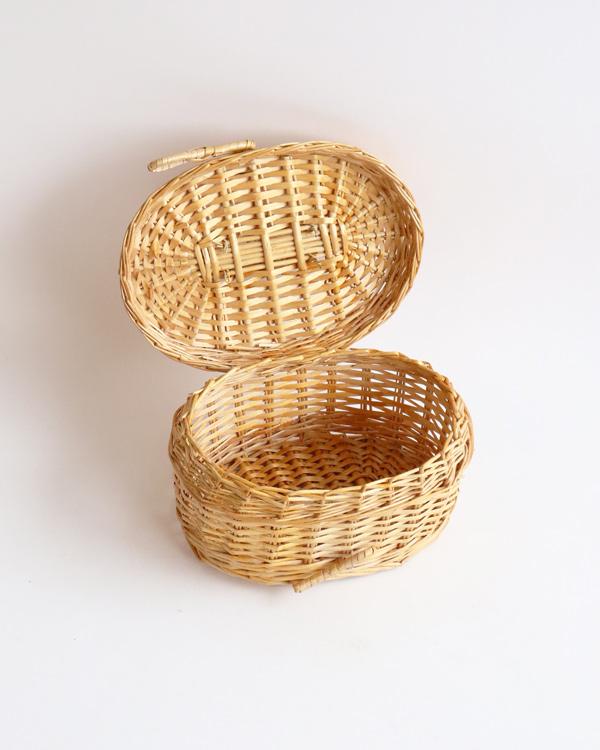 籐製バスケット ミニ