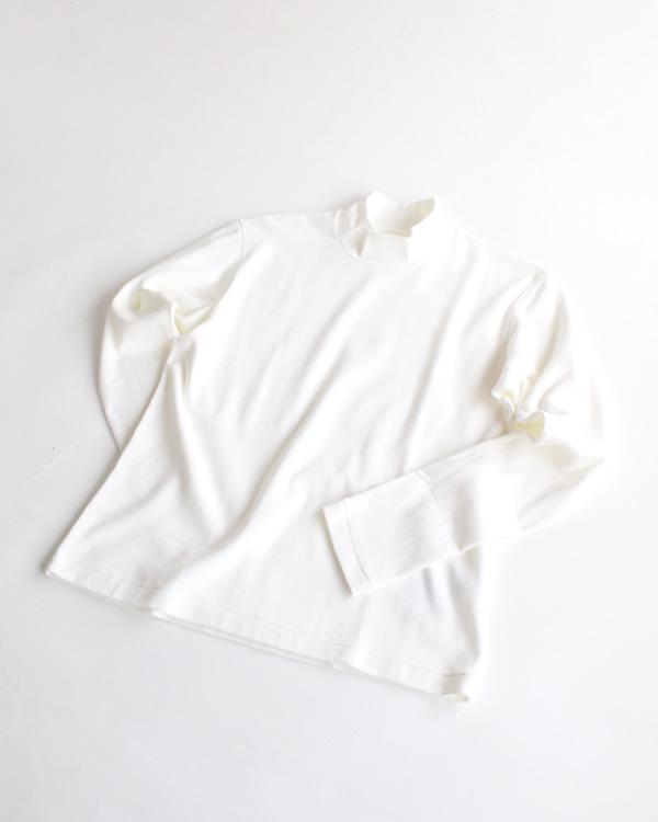 ANATOMICA(アナトミカ) Mock Neck Tee L/S (モックネックティー ロングスリーブ) / White