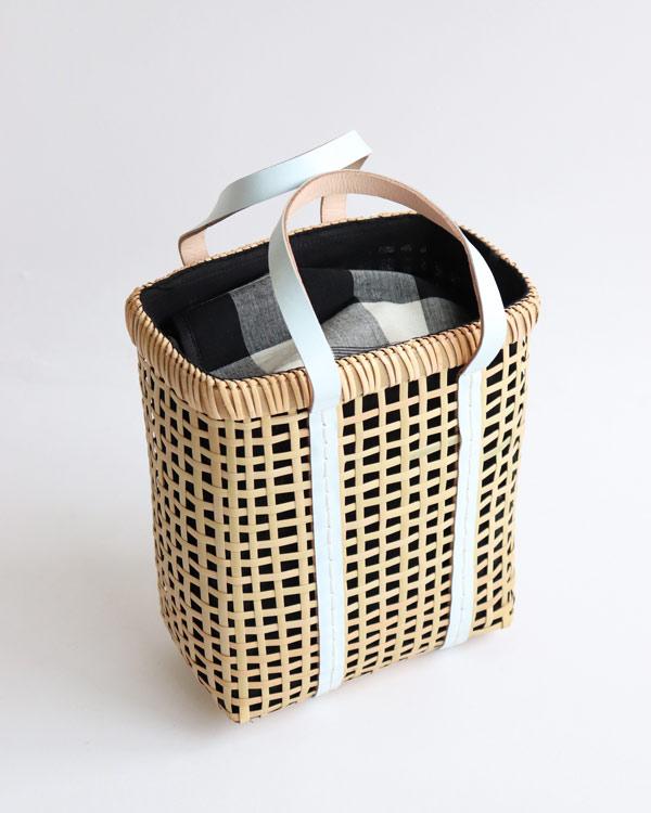 warang wayan(ワランワヤン) Bamboo amiami 四角バスケット ホワイト S