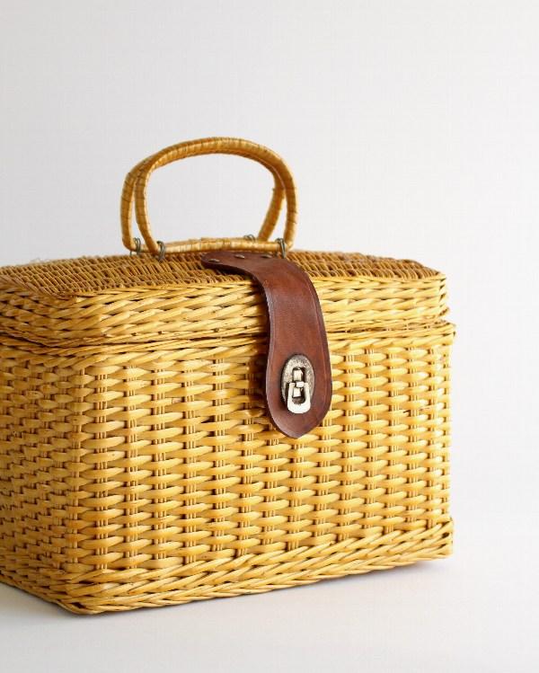 籐製バスケット ミニ B