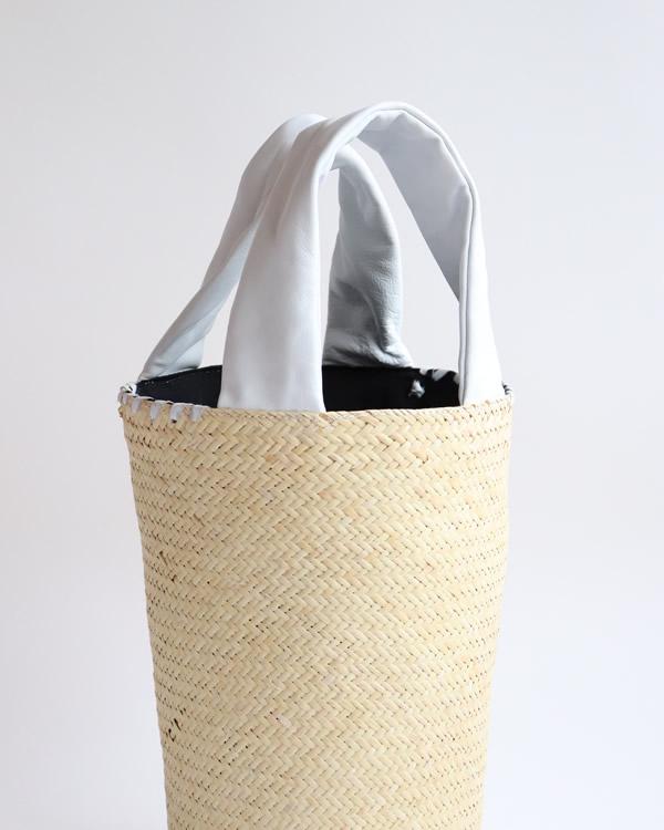 warang wayan(ワランワヤン) FUTO ラタン革手バスケット ホワイト S