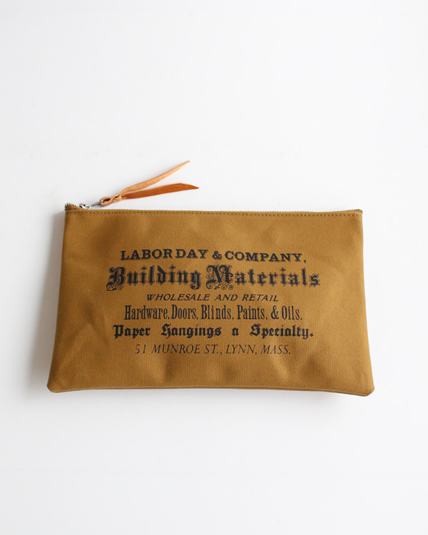 LABOR DAY Flat Tool Pouch  Brown