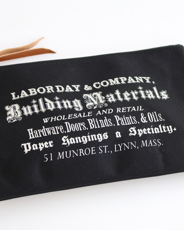 LABOR DAY Flat Tool Pouch  Black