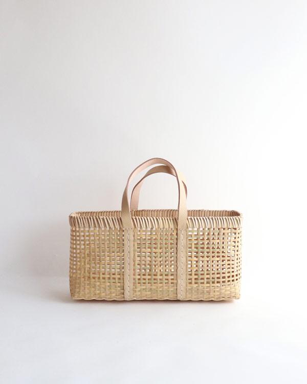 warang wayan(ワランワヤン) amiami革手バスケット ベージュ M