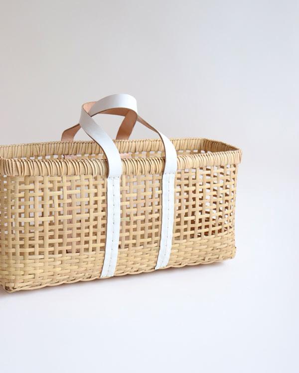 warang wayan(ワランワヤン) amiami革手バスケット ホワイト L