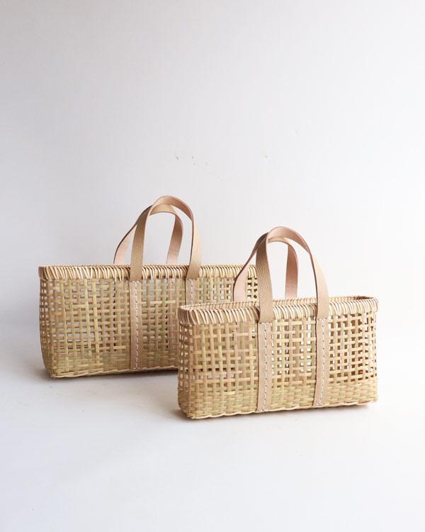 warang wayan(ワランワヤン) amiami革手バスケット ベージュ S