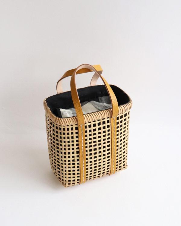 warang wayan(ワランワヤン) Bamboo amiami 四角バスケット マスタード S
