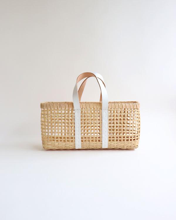 warang wayan(ワランワヤン) amiami革手バスケット ホワイト M