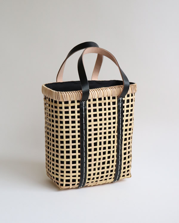 warang wayan(ワランワヤン) Bamboo amiami 四角バスケット ブラック S
