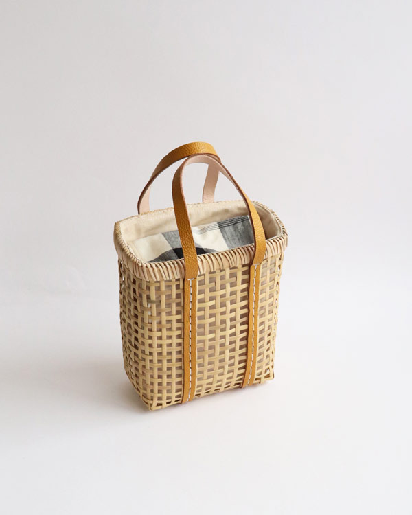 warang wayan(ワランワヤン) Bamboo amiami 四角バスケット マスタード SS