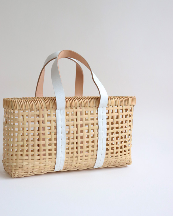 warang wayan(ワランワヤン) amiami革手バスケット ホワイト S