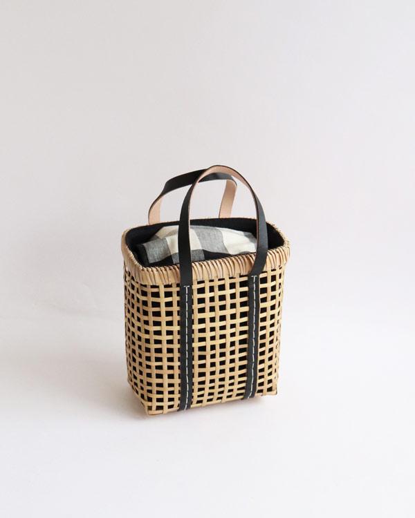 warang wayan(ワランワヤン) Bamboo amiami 四角バスケット ブラック SS