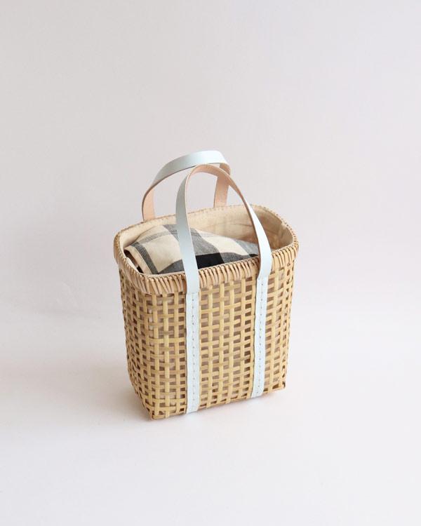 warang wayan(ワランワヤン) Bamboo amiami 四角バスケット ホワイト SS