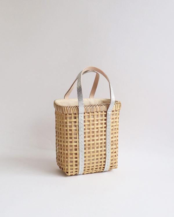 warang wayan(ワランワヤン) Bamboo amiami 四角バスケット シルバー SS