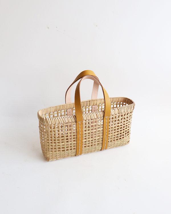 warang wayan(ワランワヤン) amiami革手バスケット マスタード S