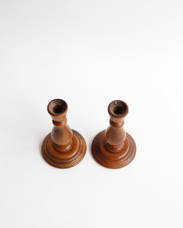 木製キャンドルスタンド ペア