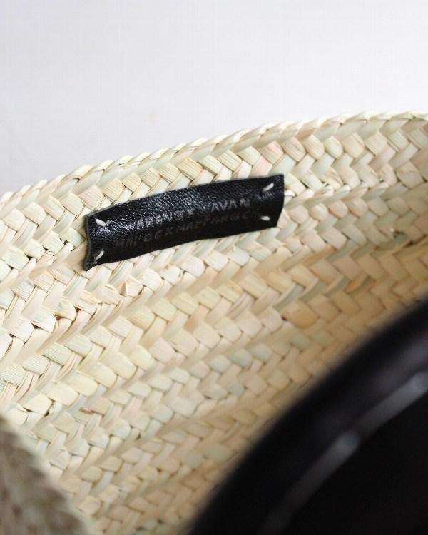 WARANGWAYAN(ワランワヤン) 革手ワンハンドルバスケット M ブラック