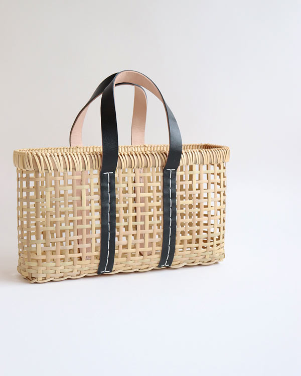warang wayan(ワランワヤン) amiami革手バスケット ブラック S