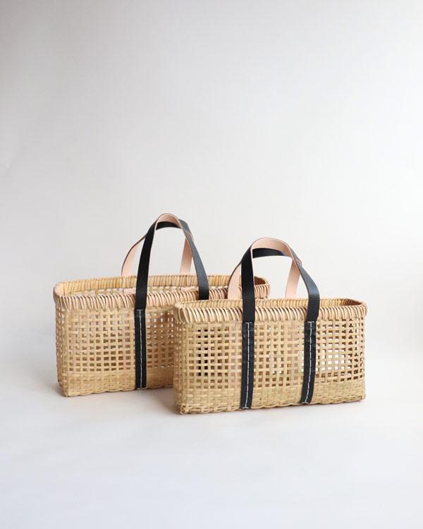 warang wayan(ワランワヤン) amiami革手バスケット ブラック M