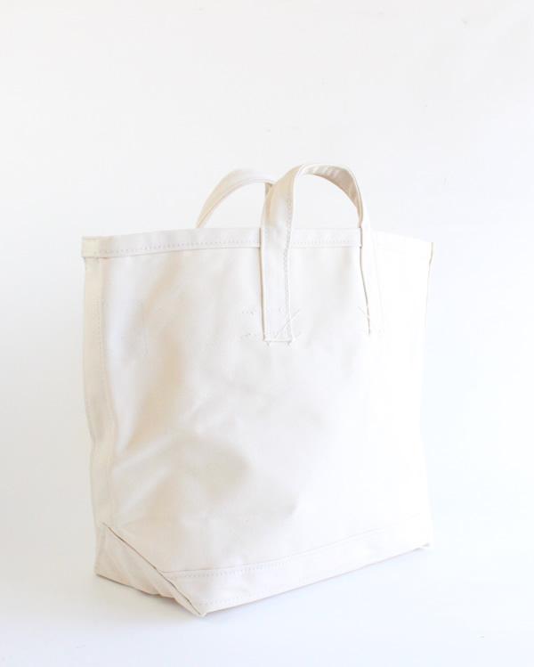 LABOR DAY Stenciled Coal Bag / Natural Large B