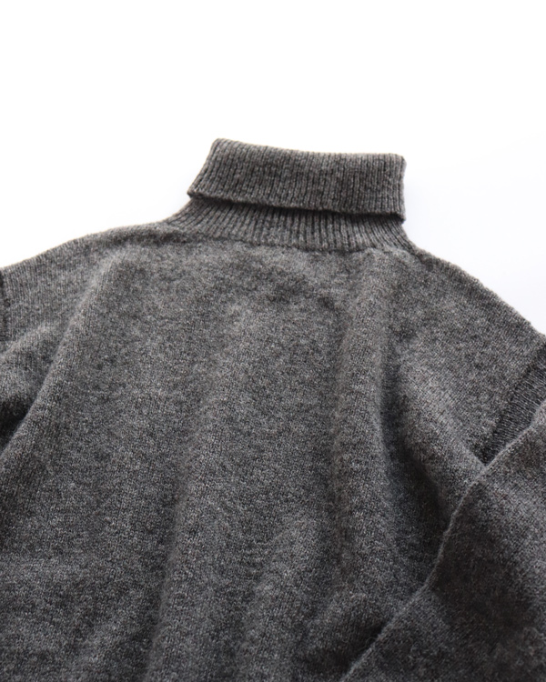 ANATOMICA(アナトミカ) Shet Yarn Knit Turtle Neck (シェットヤーンニットタートルネック) / D.Gray