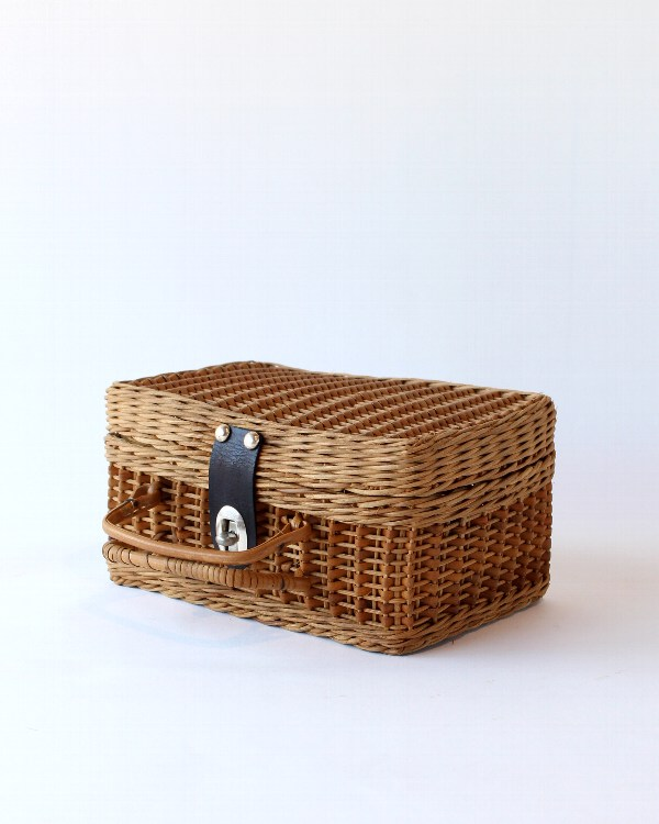 籐製バスケット ミニ A