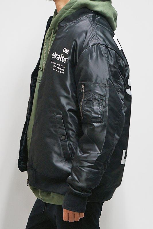 【予約制】タトゥーガールフォト撥水MA-1ジャケット [STRAITE]