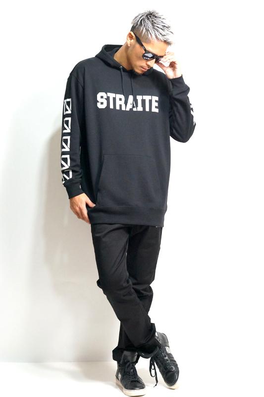スクエアロゴヘビーウエイトプルパーカー  [STRAITE]