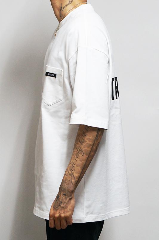 【予約制】008バックロゴポケットビッグTシャツ [STRAITE]