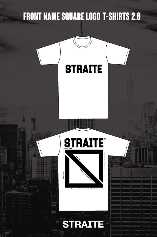 【予約制】フロントネームスクエアロゴTシャツ2.0 [STRAITE]