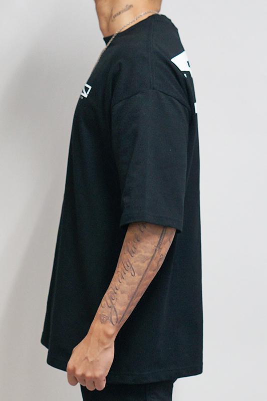 レクタングルロゴビッグTシャツ  [STRAITE]
