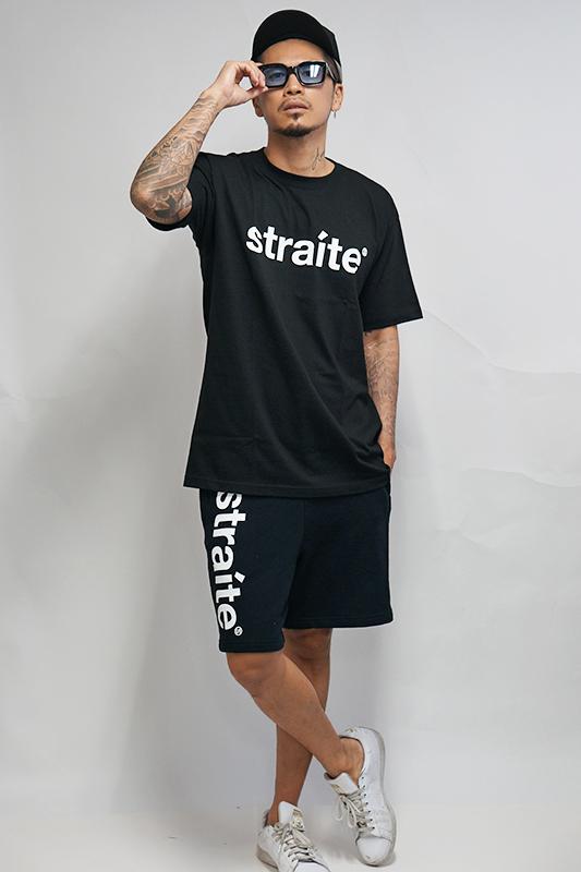 スモールレターネームスウェットハーフパンツ [STRAITE]