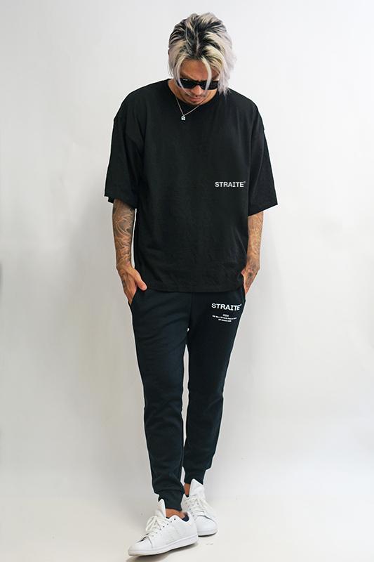 【予約制】MakeAWayスリットビッグTシャツ(ブラック)[STRAITE]