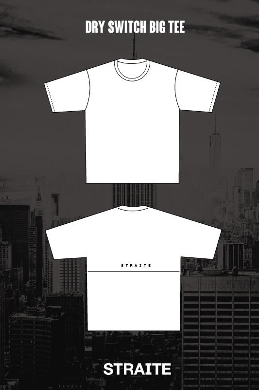 【予約制】ドライスイッチビッグTシャツ [STRAITE]