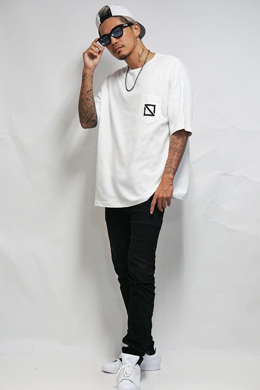【予約商品】ビッグシルエットポケットTシャツ  [STRAITE]