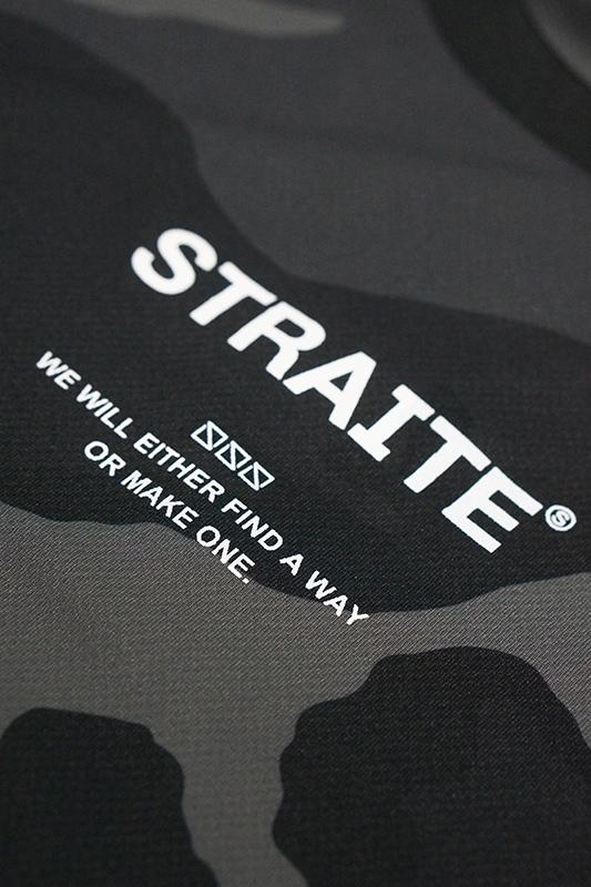 【予約制】ファンクショナル迷彩ドライTシャツ(ブラック)[STRAITE]