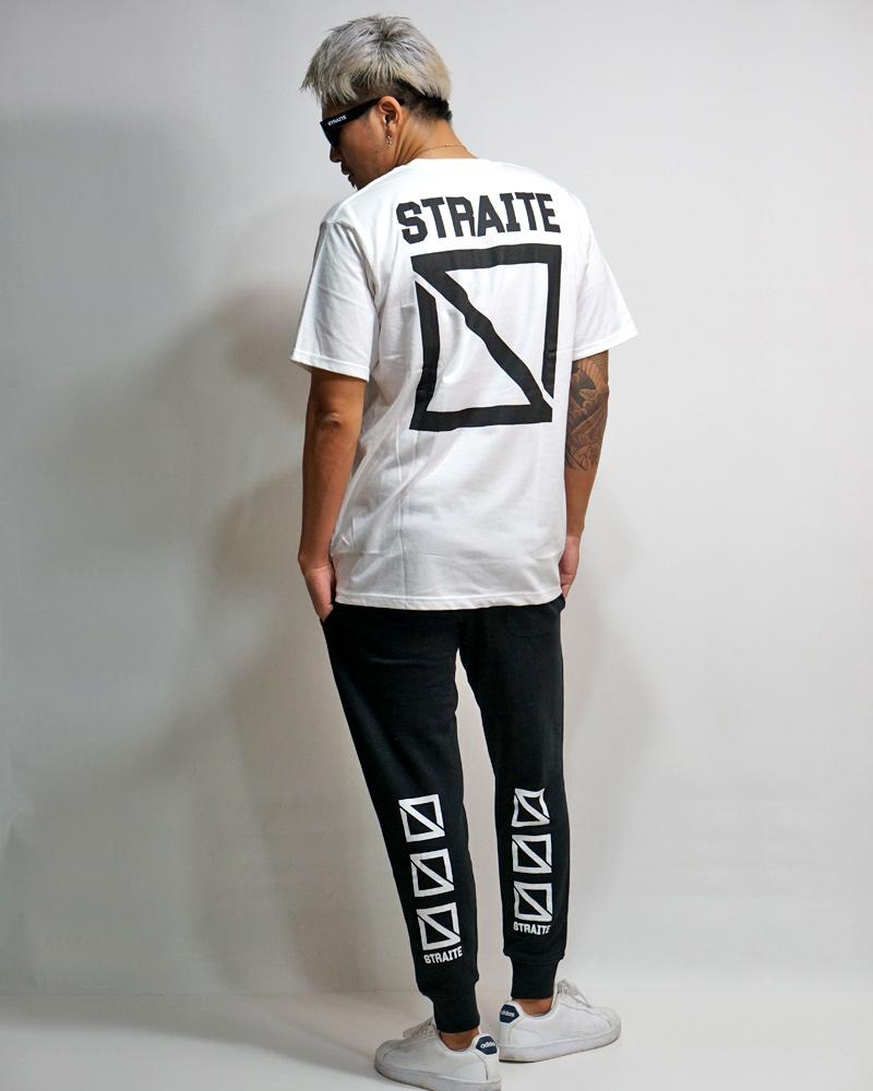 フロントネームスクエアロゴTシャツ [STRAITE]