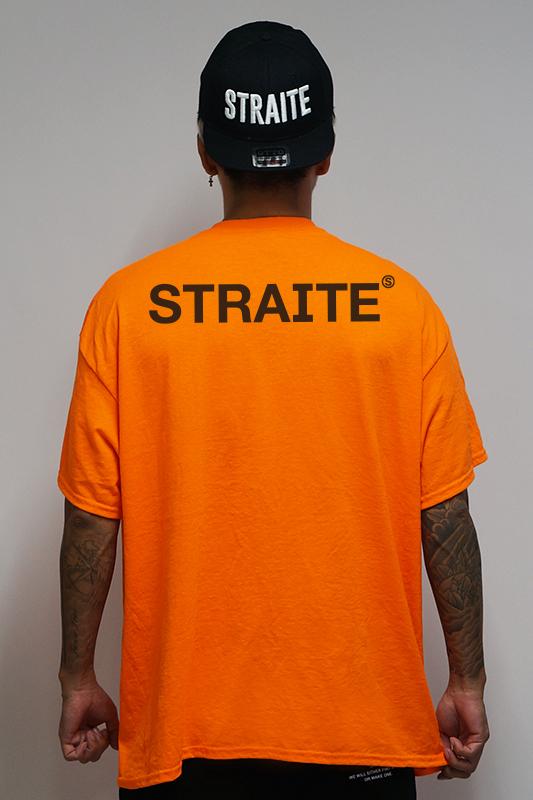 【予約商品】ネオンオレンジカラーTシャツ [STRAITE]