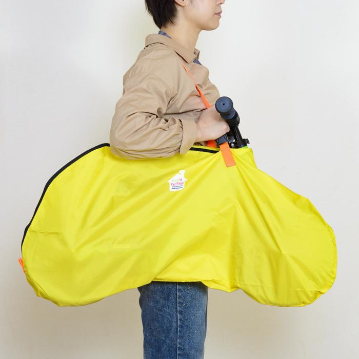 12インチストライダー用キャリーバッグFREDRIK PACKERS【イエロー×ネオンオレンジ】