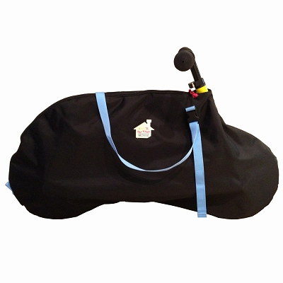 12インチストライダー用キャリーバッグFREDRIK PACKERS【ブラック×パステルブルー】