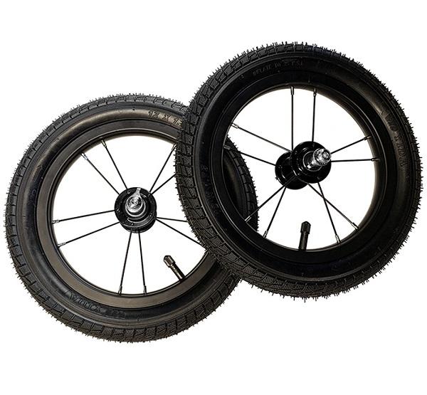 12インチ ハイトラクションホイール&ゴムタイヤ 2本セット【12インチ全モデル対応】