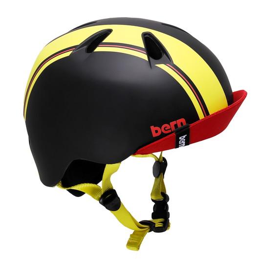 bern【NINO(男の子) :ブラック イエロー レーシング ストライプ】