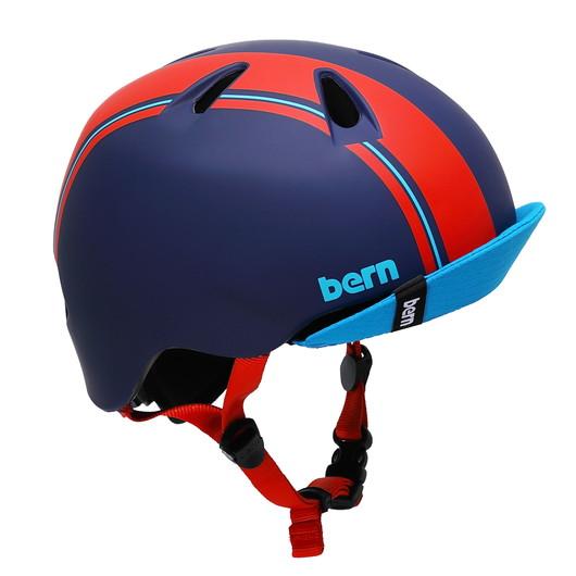 bern【NINO(男の子) :ブルー レッド レーシング ストライプ】