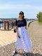 ST.ROONEY /バックスタイルが美しい リブ切替フレアワンピース2021