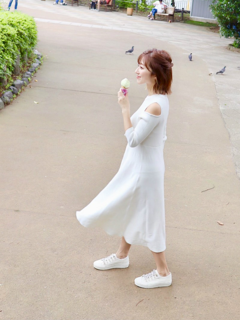 ST.ROONEY /水野佐彩さん1stコラボ オープンショルダーニットワンピース